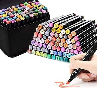 60 color Arte Dibujo Marcadores de Punta Doble, Rotuladores de Dibujo con Dual Brush(1mm/1-6mm), Para resaltar y subrayar ...