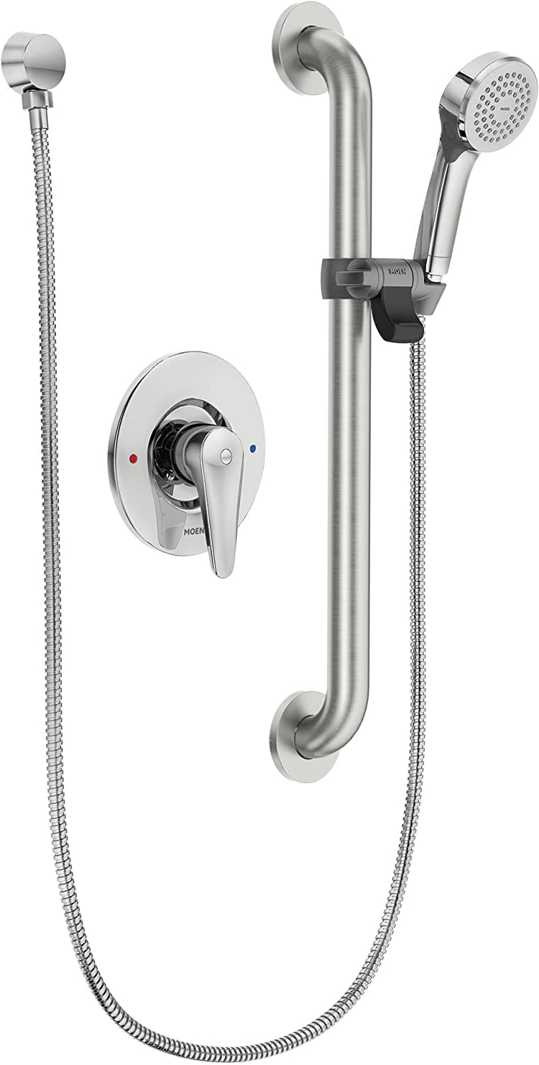 Moen T9346GBM25 Commercial Posi Temp All Metal Trim Kit 2.5 GPM (Valve Not Included), Chrome