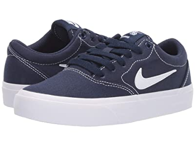 Nike Kids Charge Canvas (Big Kid) (Midnight Navy/White) Boys Shoes
