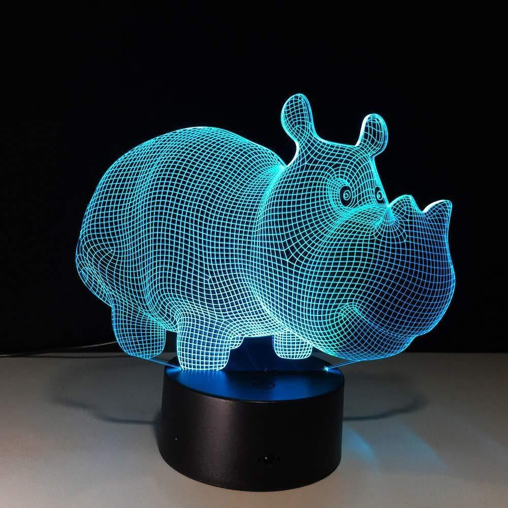 BFMBCHDJ Lámpara de mesa Creative Eagle Head 7 colores Lámpara de ...