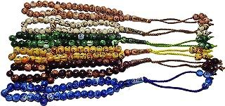 Lot 6 Islamic Salah Prayer Beads 33 Misbaha Masbaha Tasbeeh Sebha Tasbih Tasbeh Sibha Subha Rosary Muslim Islam Worry Bead...
