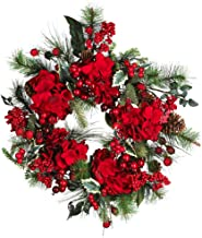 60cm Hydrangea Holiday Wreath