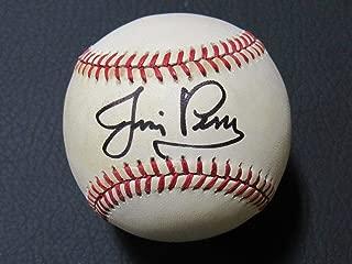 Signed Jim Perry Ball - Rawlings OML B99 - Autographed Baseballs