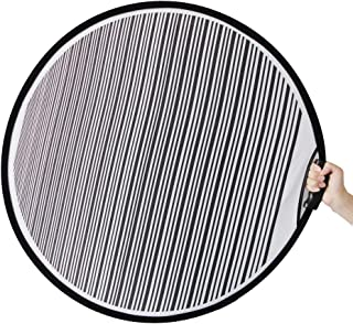 80cm Circular Striped Flexible Foldable PDR Lined Light Reflector Board Dent Panel Portable Designed for Car Vehicle Door Scratch and Hail Damages Necessary Tools