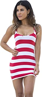 Wicked Weasel Sexy Sailor Stripe - Mini Dress (565) Women's Clothing