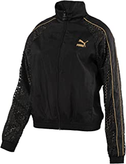 Puma T7 Metal Woven Jacket Black Black Shirt For Unisex, Size S