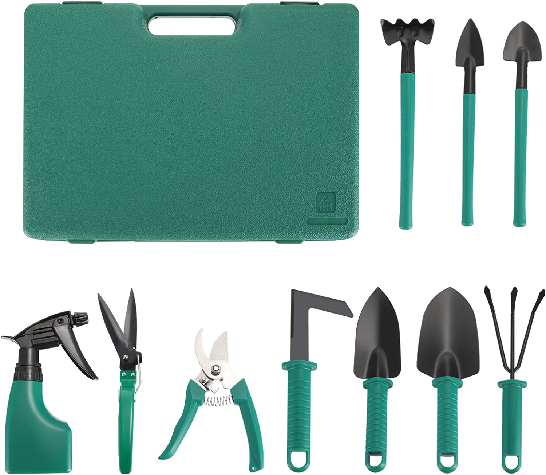 Sale special price DOITOOL Fees free!! 10 Pcs Garden Tools Set Kit with Shovel S Gardening Mini