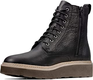 Clarks - Womens Trace Pine Boots, Size: 6.5 M US, Color: Black Leather
