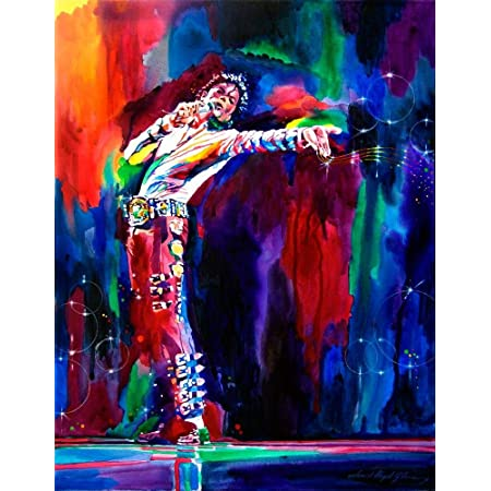 VVWV Mj Michael Jackson Stylish Canvas Motivational Dancing Art Painting Posters for Wall Living Room Boys Girls (W X H 12 X 16 Inches)