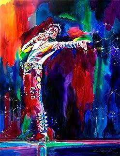 VVWV Mj Michael Jackson Stylish Canvas Motivational Dancing Art Painting Posters for Wall Living Room Boys Girls (W X H 12...