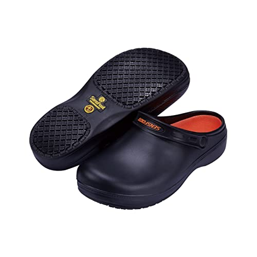 33b60519900bd SensFoot Slip Resistant Chef Clogs for Kitchen Non Slip Work Shoes for Men  Women