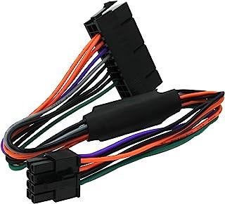 كابل محول طاقة ATX PSU من 24 دبوس إلى 8 دبوس متوافق مع ديل أوبتيبلكس 3020 7020 9020 Precision T1700 12 بوصة (30 سم)