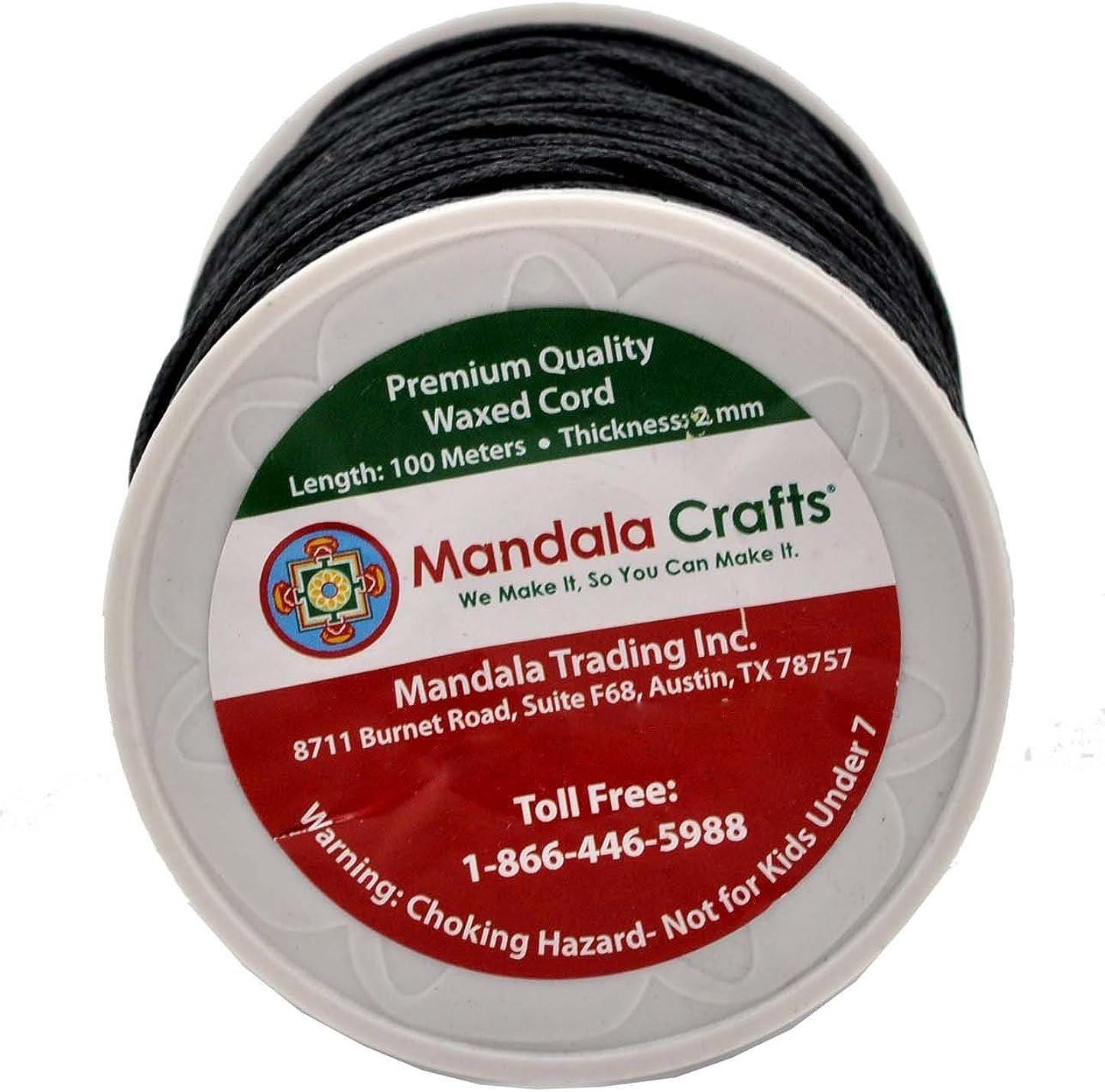 Mandala Crafts 2mm 109 Yards Jewelry Making Beading Crafting Macram/é Waxed Cotton Cord Rope