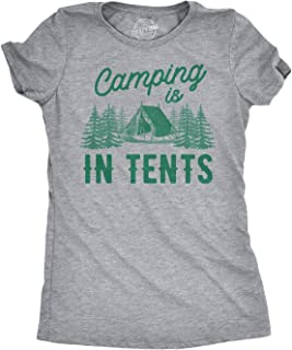 Crazy Dog Tshirts Women's Camping Is In Tents T Shirt