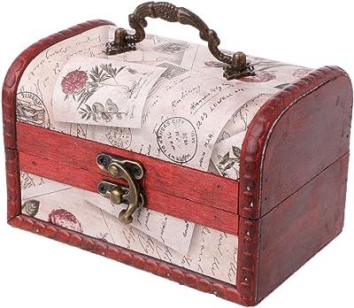 Box Wooden Chest 16X10X9cm