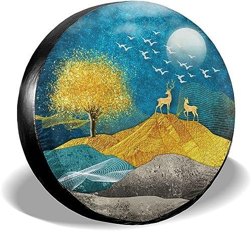 "2021 Gwomo Elk Deer Natural Scenery Spare Tire Cover Wheel Protectors Tyre Covers Weatherproof Wheel Covers Universal Fit for Trailer sale Rv SUV Truck Camper Travel Trailers online 14"" 15"" 16"" 17"" online"