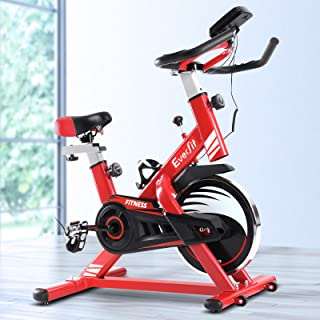 Exercise Bike Everfit Spin Bike 120KG Capacity w/Drink Holder Home Gym Fitness Machine Flywheel Indoor Cycling Adjustable ...
