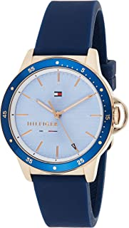 Tommy Hilfiger 1782027 Womens Quartz Watch, Analog Display and Silicone Strap, Blue