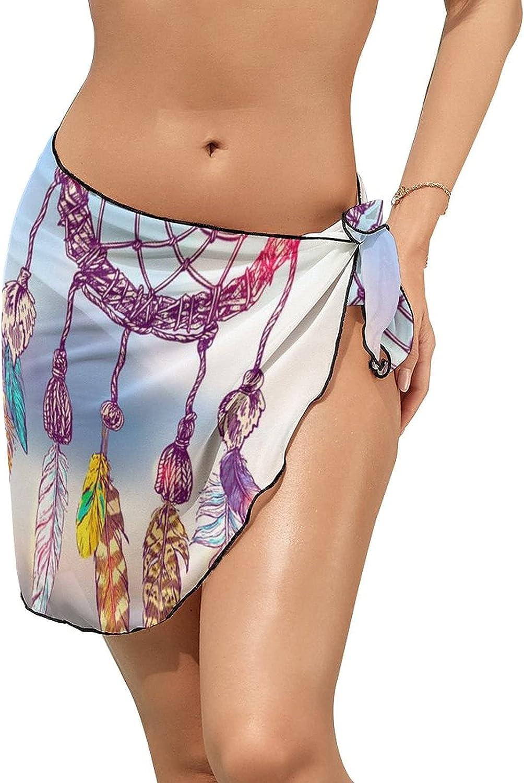 Women Beach Wrap Skirt Chiffon Sarong Pareo Swimsuit Bikini Cover Ups Always Follow Dream