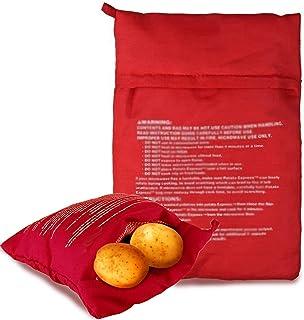 5 stycken mikrovågsugnar potatispåsar, Potato Express Bag potatis kokpåse för mikrovågsugn tvättbar och återanvändbar pota...