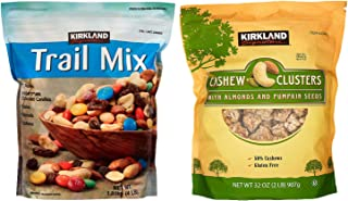 Kirkland Signature Trial Mix and Cashew Cluster Bundle - Includes Kirkland Signature Trial Mix (4.0 LB) and Cashew Cluster...