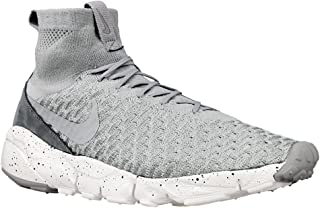 Nike Air Footscape Magista Flyknit Mens Trainers 816560 Sneakers Shoes (UK 10 US 11 EU 45, Wolf Grey Hyper Orange 005)