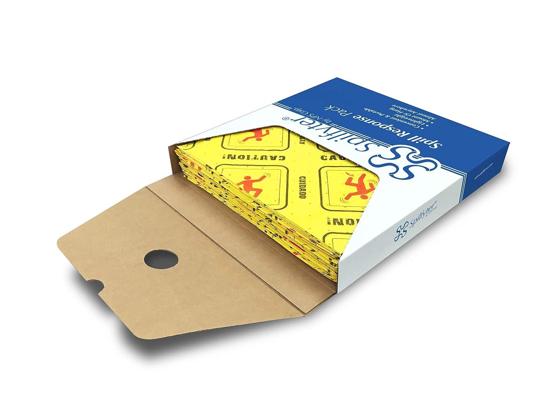 Absorbent Pad,Universal,Yellow,PK25