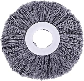 Fan-Ling Replacement 360 Rotating Mop-Head,Plastic Cotton Thread Mop-Head Replacement,Microfibers Mop-Head Refill, Easy Wring Spin Mop, for Smooth Surface Floor (Gray)