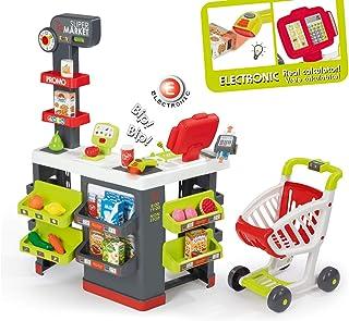 Smoby - Zabawka Supermarket z kasą i wózkiem na zakupy –