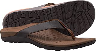 Everhealth Orthotic Flip Flops Men's Sandals with Comfort Arch Support for Plantar Fasciitis & Flat Feet (Walking Essential)