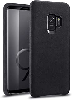 ESR Roadster Microfiber Case, Compatible with The Samsung Galaxy S9, Ultra-Thin and Soft Protective Case for The 5.8-inch Galaxy S9, Black