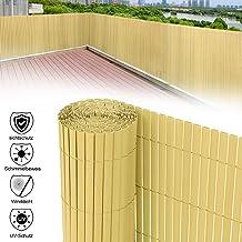 Laneetal PVC Sichtschutzmatte Grau Gartenzaun Sichtschutzzaun f/ür Garten Balkon Terrasse 100 x 500 cm
