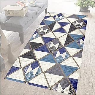 HAIPENG 3D Runner Rug for Hallway, Long Narrow Hall Entrance Area Rugs, Geometric Patterns Kitchen Bath Non Slip Floor Ma...