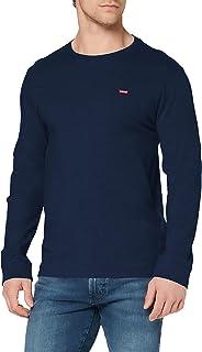 Levi's Original Hm tee Camiseta, LS Cotton + Patch Dress Blues, M para Hombre