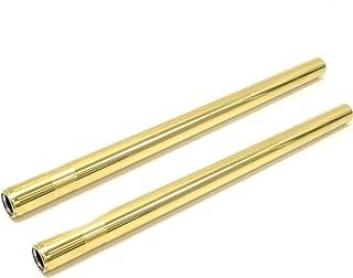 Yamaha XS650 SR500 Premium Gold Fork Tubes Titanium Nitride Stock Length by Niche Cycle Supply