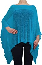 Poncho Mujer Damas de Encaje Elástico Alas de Murciélago Cabo de Punto de Ganchillo Color Liso