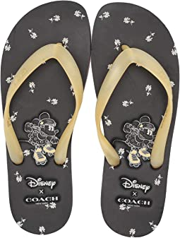 d778f89a95a COACH. T-Strap Sandal.  44.99MSRP   150.00. Black Yellow