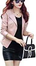 pink leather look jacket