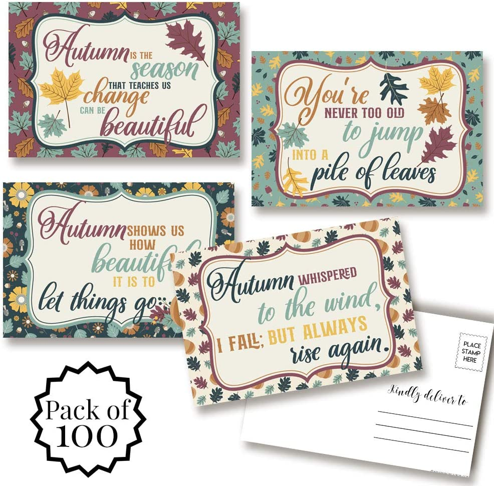 Inspirational Fall National uniform free shipping Autumn Themed Blank To Postcards Fr latest Send