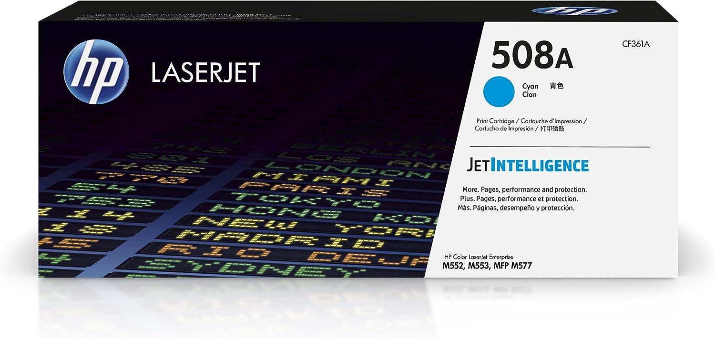 HP 508A | CF361A | Toner-Cartridge | Cyan | Works with HP Color LaserJet Enterprise M553 series, M577 series