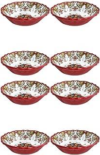 Le Cadeaux Allegra Red - Melamine Cereal Bowls - Set of 8
