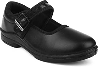 FUEL Kid's Girl's Formal Comfortable & Soft Buckle School Shoes - Black