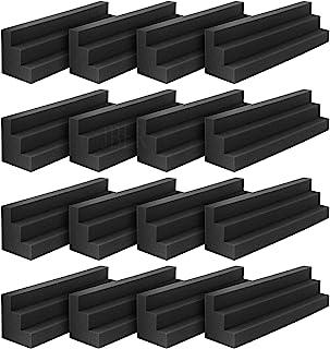 JBER Column Acoustic Wedge Studio Foam Corner Block Finish Corner Wall in Studios or Home Theater (16 Pack)