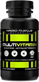 Sponsored Ad - Whole Foods Multivitamin, Kaged Muscle Multivitamin Made with Organic Fruits & Veggies, Plant Based Vegan M...