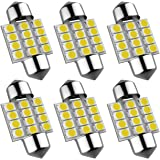 """SIRIUSLED Extremely Bright 400 Lumens 3020 Chipset Canbus Error Free LED Bulbs for Interior Car Lights License Plate Dome Map Door Courtesy 1.25"""" 31MM Festoon DE3175 6428 Xenon White"""