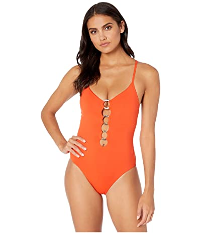 Seafolly Active Ring Front Maillot One-Piece Swimsuit (Tangelo) Women