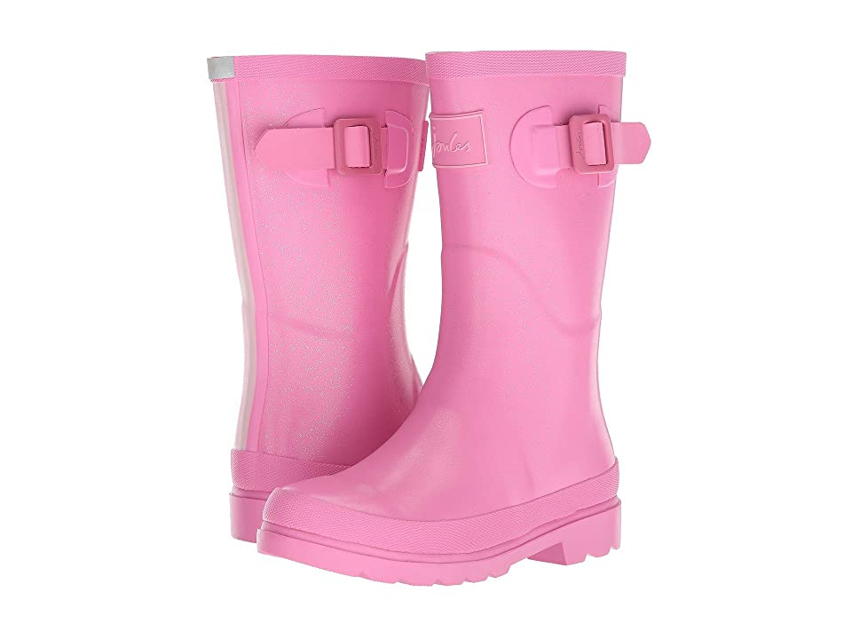 Joules Kids Field Welly Rain Boot (Toddler/Little Kid/Big Kid) (Pink Glitter) Girls Shoes