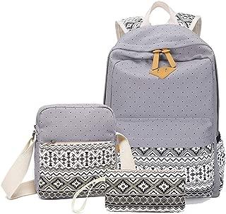 School Backpack Meal Pack ★School Bag Sets: The Girls School Bags Comes with 3 in 1 Girl School Bags School Bag Doll School Bag Kids School Bags for Boys (Color : Grey)