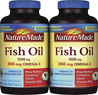 Nature Made Fish OIL 1200 Mg, 360 Mg Omega-3: 400 Liquid Softgels by Nature Made