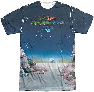 Yes Progressive Rock Band Topographic Oceans Cover Camiseta para adultos con estampado frontal